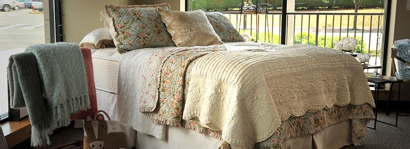 Natural bed linens, mattress toppers, pillows